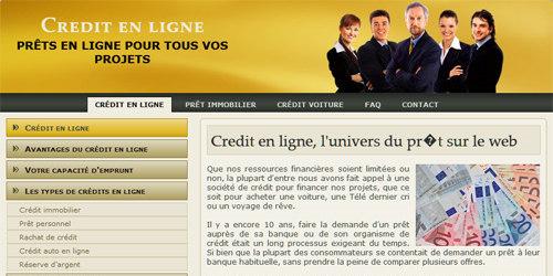 Une offre de crédit en ligne