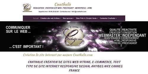 Création site web location site web clé en main vente site web existant Cnathalie